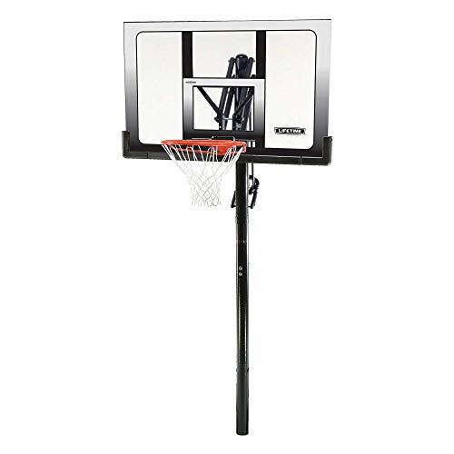 - Lifetime 71281 In Ground Power Lift Basketball System, 52 Inch Shatterproof Backboard