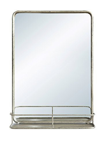 Creative Co-Op Rectangle Wall Shelf Mirror, Single Vanity, - Matching Mirrors Vanity Bathroom With