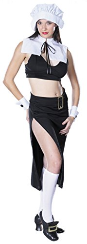 Cinema Secrets Womens Prudence Naughty Pilgrim Outfit Fancy Dress Sexy Costume, L ()