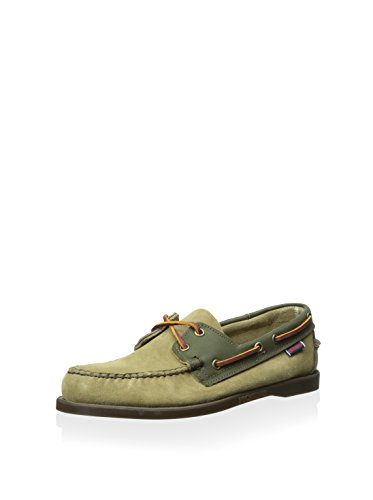 (Sebago Spinnaker Mens Boat Shoes B73347 Green Brown 11.5M M US)