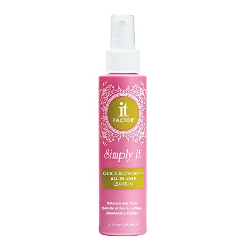 - It Factor - Simply It - Quick Blow Dry - Leave In - Detangler & Styling Product - Professional Grade Salon Quality Hair Care - For All Hair Types - Hairdresser Pros Love It - Original Formula