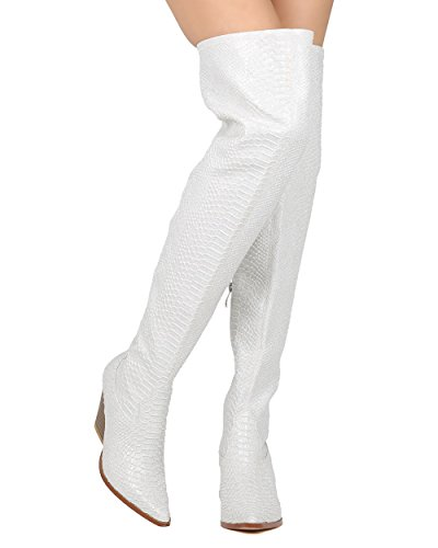 Snakeskin Thigh High Cowboy Boot - Dressy, Cosplay, - Sz 7 Snake Boot