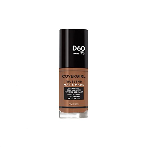 Toasted Almond - Covergirl Trublend Matte Made Liquid Foundation, D60 Toasted Almond, 1.014 Ounce