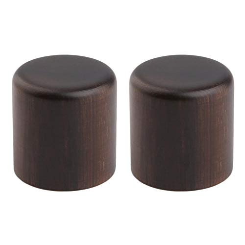 KAISH 2-Pack Wood Knobs Tele Style Flat Top Dome Knobs Guitar Bass Wood Knob Barrel Knobs Rose Wood