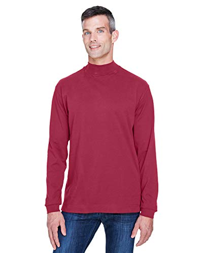 (A Product of Devon & Jones Adult Sueded Cotton Jersey Mock Turtleneck -Bulk Dis)