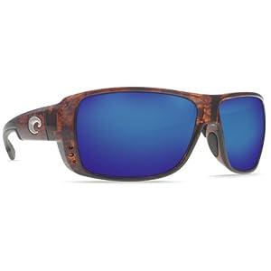 Costa Del Mar Double Haul Men's Polarized Sunglasses, Tortoise/Blue Mirror