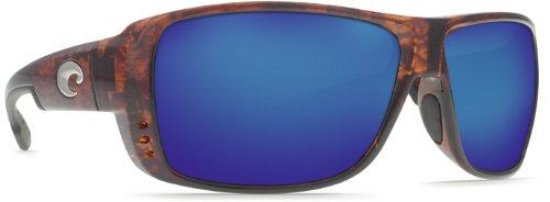 Costa Del Mar Double Haul Men's Polarized Sunglasses, Tortoise/Blue - Haul Sunglasses