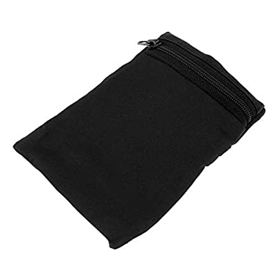 kokokwad Solid Black Men amp Women Wristband Sweatband Wrist Wallet Pouch Zipper Pocket Bag for Athletic Sports Tennis Running Cycling Gym Estimated Price £8.99 -