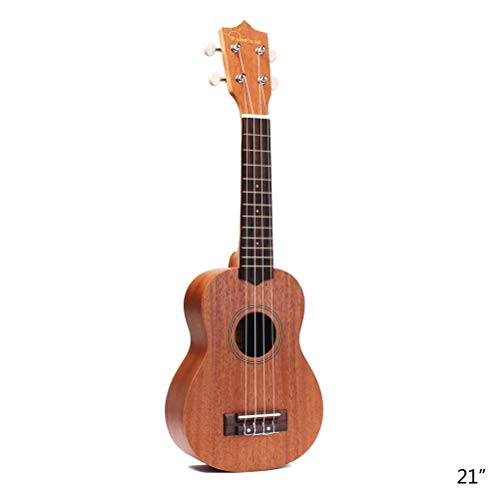 21 Inch 4 Strings Acoustic Ukulele Sapele Stringed Musical Instrument Beginner Kit with Gig Bag Tuner