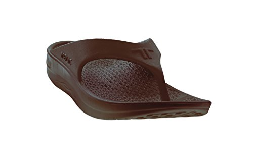 Telic Women's Fashion Flip Flop Sandal (Made in the USA) (9 B(M) US, Espresso Brown)