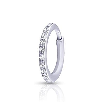 Buy Kuberbox 14k White Gold Diamond Nose Pin At Amazon In