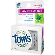 Flat Unflavored Antiplaque - Flat Floss, Antiplaque, Naturally Waxed, Unflavored, 32 yd.