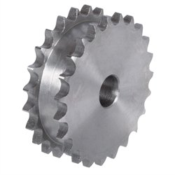 - Double sprocket ZRE for 2 single roller chains 08 B-1 16 teeth material steel