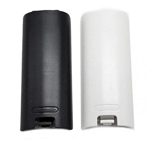 - SODIAL 2pcs Black and White Replacement Battery Back Door Cover Shell for Wii Remote Controller