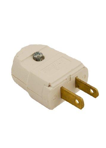 Leviton 101-WP 2 Wire Plug, Light Duty, Polarized, White (2 Wire Round Plug)