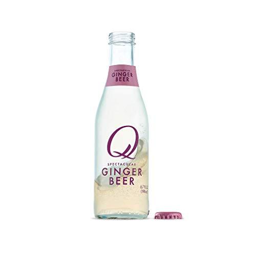 Q Mixers, Q Ginger Spectacular Ginger Beer, Premium Mixer, 6.7 Fl Oz (24 Glass Bottles)