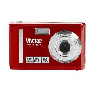 Vivitar Vivicam V8018ST 8.1MP Digital Camera - Red