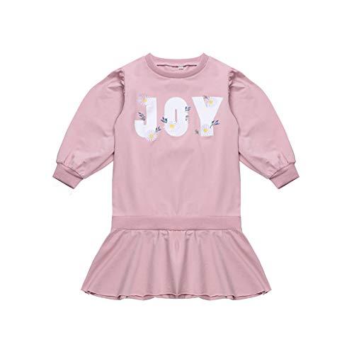 Fabal_Girls Clothing Set Fabal Teen Kids Girls Long Sleeve Letter Embroider Knit Falbala Joint Princess Dress Pink ()