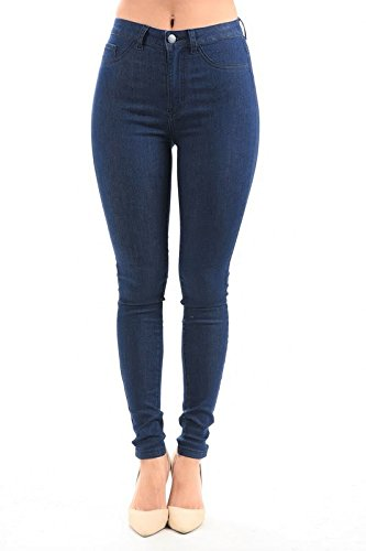(LOVER BRAND FASHION High Waisted-Rise Ladies Colored Denim Stretch Skinny Destroyed Ripped Distressed Jeans for Women, Red, Large )