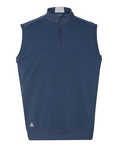- adidas Golf Mens Quarter-Zip Club Vest (A271) -Dark Slate -XL