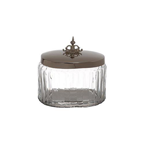 Pote de Vidro Salsidar Lyor Transparente/Prata