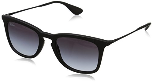 Ray-Ban INJECTED MAN SUNGLASS - RUBBER BLACK Frame LIGHT GREY GRADIENT DARK GREY Lenses 50mm - Ban 4187 Ray