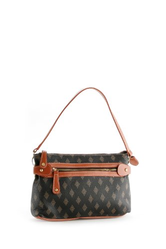 Patzino Signature Diamond Edition women's / Junior Girls Brown Designer Inspired Mini Shopper Hobo Travel Tote Bag Purse Satchel Handbag w/Shoulder Strap For Everyday Use. (BO60) – Mathining Wallets Available, Bags Central