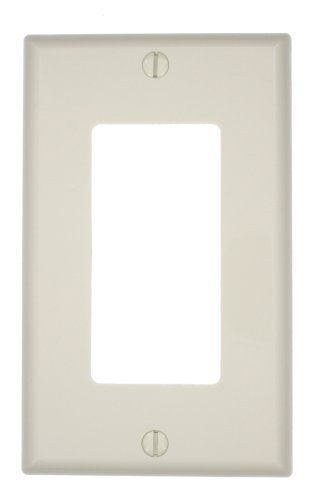 Leviton 80401-NT 1-Gang Decora/GFCI Device Wallplate, Standard Size, Thermoplastic Nylon, Device Mount, Light Almond (Gang Light Almond)