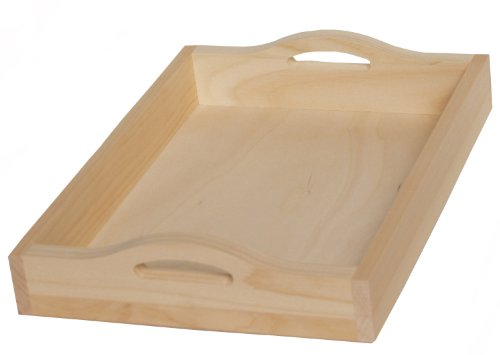 Walnut Hollow Unfinished Raw Wood Serving Tray to Create a Unique Home Décor Project, 15-inch x 11-inch