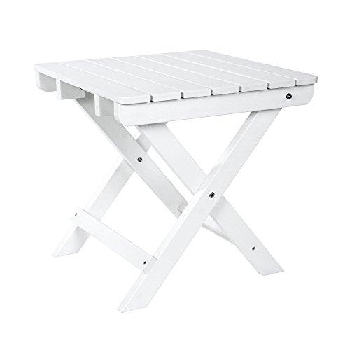 Shine Company 7109WT Side Table, White (Adirondack Cedar Side Table)