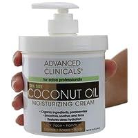 Advanced Clinicals Coconut Oil Cream. Spa size 16oz Moisturizing Cream. Coconut...