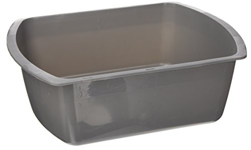Medline Rectangular Plastic Basins Graphite