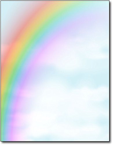 Rainbow Stationery Paper - 80 Sheets (Rainbow Paper Printer Colors)