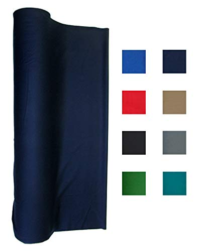 21 Ounce Pool Table Felt - Billiard Cloth - an 8 Foot Table Navy -