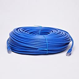 UbiGear New 150ft 50m Blue 150\' Ft RJ45 CAT5e Ethernet LAN Network Internet Computer Patch Solid wire 24 AWG UTP Cable
