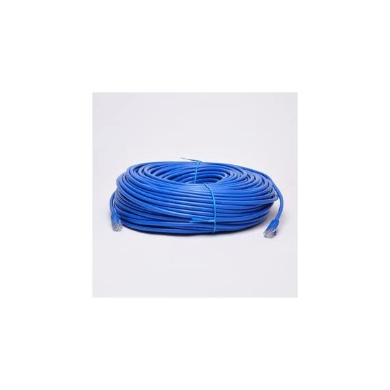 Ubigear new 200ft 60m blue rj45 cat5e ethernet lan network internet computer patch solid wire 24 awg utp cable 1 100% new high quality ethernet cable, cat 5e(enhancement), solid wires, 24 awg cca this cable connects all the hardware destinations on a local area network (lan). Wire construction: cca - copper clad aluminum (solid wire, 0. 52mm/24 awg in diameter)
