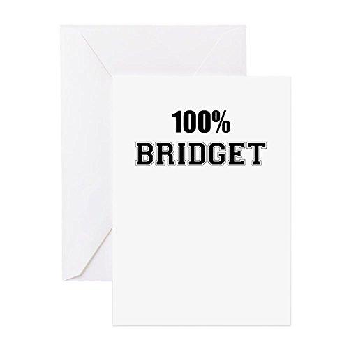 (CafePress - 100% BRIDGET Greeting Cards - Greeting Card, Note Card, Birthday Card, Blank Inside Matte )