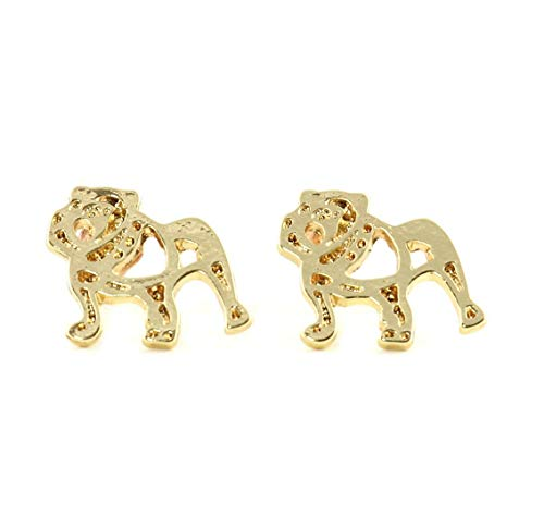 EvesCity Collection Bulldog Dog Pitbull Earrings Women Ear Flake Bijoux Statement Jewelry Animal Earrings Punk Fashion Accessories Hypoallergenic Jewelry