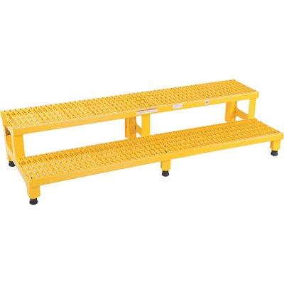 Vestil ASP-60 Steel Adjustable Step Mate Stand, 2 Step, 60'' x 23'', Yellow by Vestil