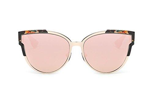 SojoS SJ2017 Cat Eye Mirrored Flat Lenses Street Fashion Metal Frame Sunglasse for Women with pink - Costco Aviator Sunglasses