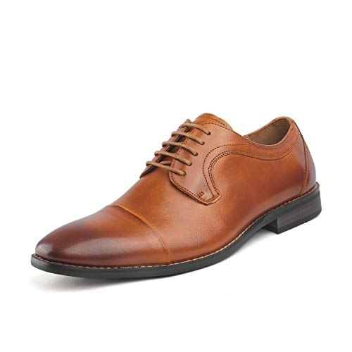 - Bruno Marc Men's Brown Dress Shoes Cap Toe Oxford Size 11 M US