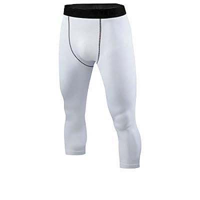 ETAOLINE Men's 3/4 Compression Base Layer Tights Pants Running Leggings