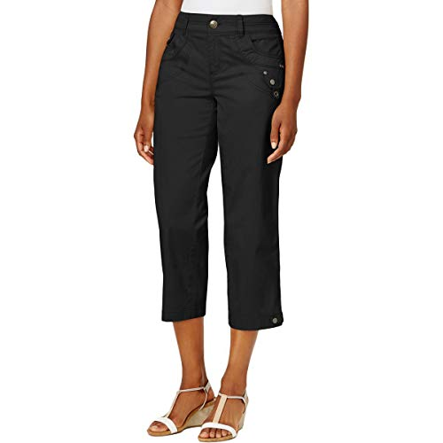 Style & Co. Womens Mid Rise Cropped Capri Pants Black 10