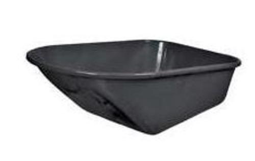 Black Poly Tray 6Cu, (Poly Tray Wheelbarrow)