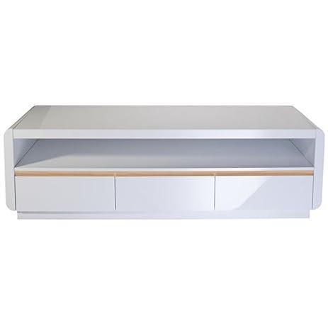 Lowboard Modern amazon com prana high gloss lowboard with 3 drawers 1 big open