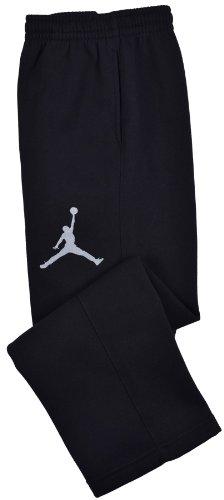 Nike Jordan Boys' Varsity Fleece Pants Black/White (Small)
