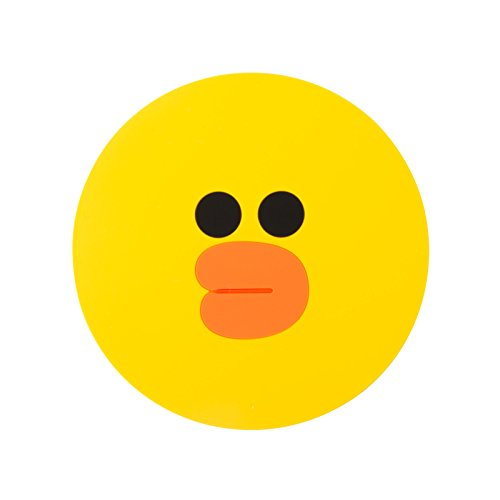 LINE FRIENDS Sally Two-Face Silicon Coaster One Size Yellow (Adult Twoface Costume)