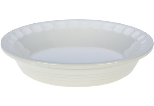 picture of Le Creuset Stoneware Pie Pans, 9-Inch, White