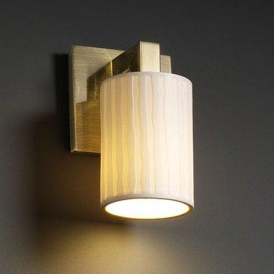 Justice Design Fan (Justice Design POR-8921-20-LEAF-ABRS Modular 1-Light Wall)