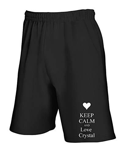 T Love Crystal Keep Tuta Calm Tkc1625 Nero shirtshock And Pantaloncini TqzwnrUxT